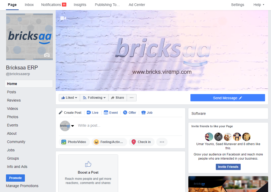 bricksaa facebook page